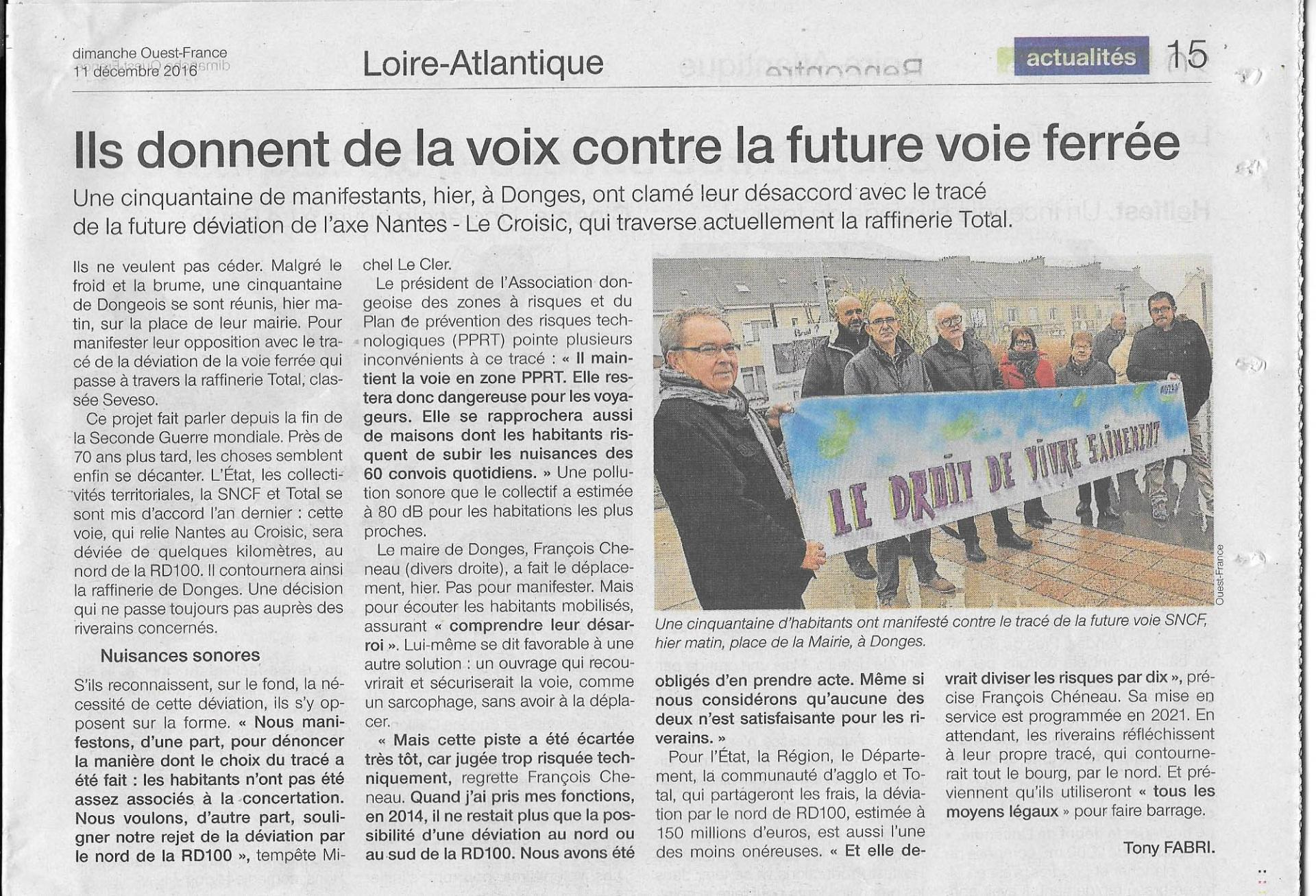 Manifestationvoieferree10122016ouest france 11 12 16